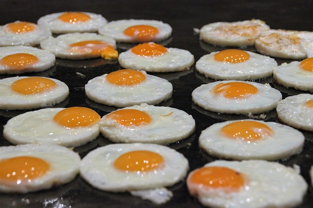 Fried egg buffet